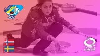 Norway V Sweden   Womens Round Robin   World Junior Curling Championships 2019