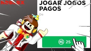 PLAYING PAID GAMES ON ROBLOX!!!