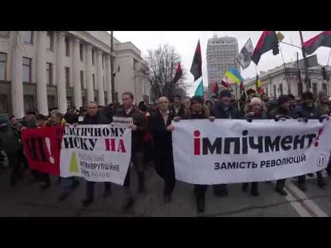 Митинг Киев Бульдог Миша вцепился в поросенка Петю. 3 декабря 2017. Снято одним кадром