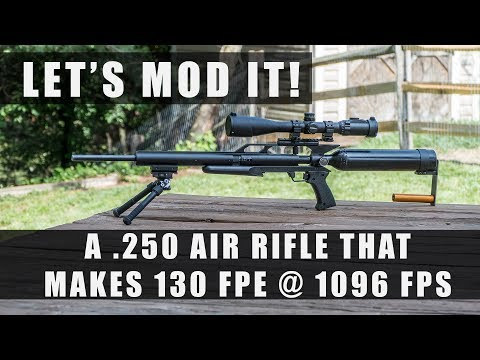 High Powered Air Rifle in .250 ( 130 FPE @ 1096 FPS ) Modded Airforce Condor
