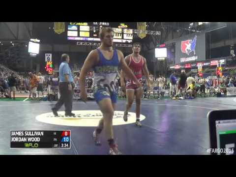 220 Champ. Round 1 - Jordan Wood (Pennsylvania) vs. James Sullivan (Hawaii)