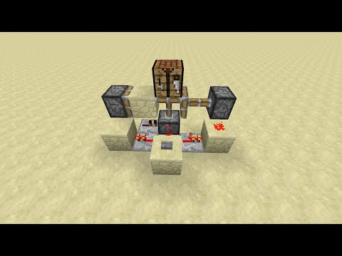 Minecraft Tutorial: Compact And Fast Floor Block Swapper