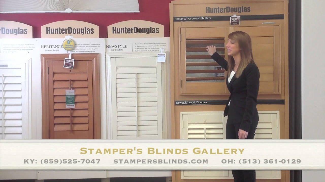 Hunter douglas newstyle hybrid shutters youtube - Hunter douglas interior shutters ...