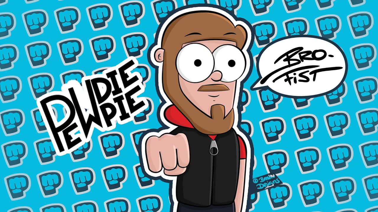 PewDiePie Hd: PewDiePie Cartoon • Wallpaper [DOWNLOAD]