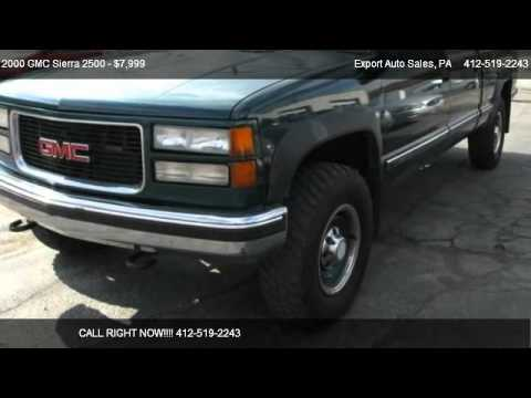 2000 gmc sierra 2500 crew cab hd for sale in export pa 15632 youtube youtube