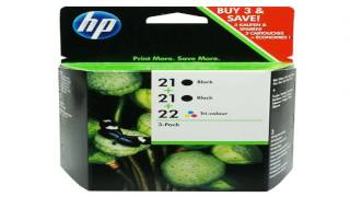 HP 21 Black 22 Tri color Original Ink Cartridges 2 pack C9509FN
