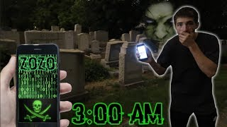 (ZOZO IS COMING) DO NOT GO LIVE AT 3:00 AM | *THIS IS WHY* | 3 AM CHALLENGE AT CEMETERY!