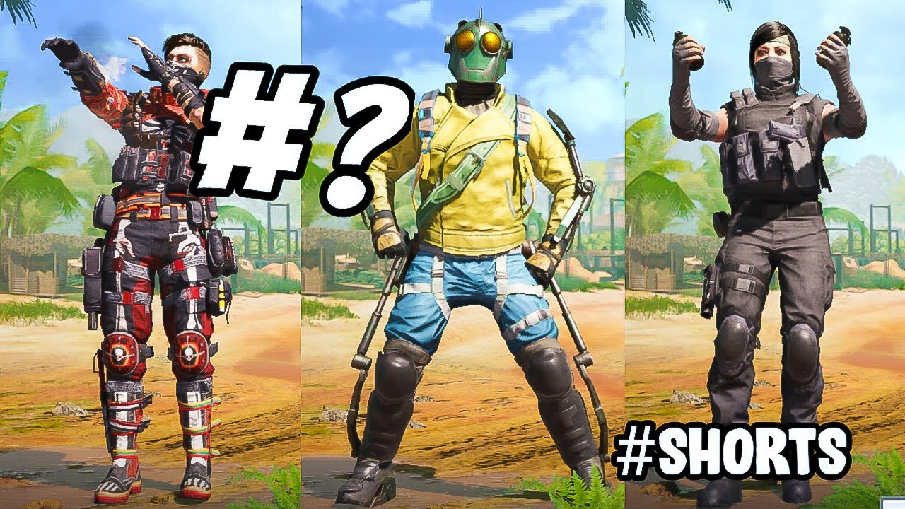 *Top 10* NEW EMOTES in COD MOBILE #shorts