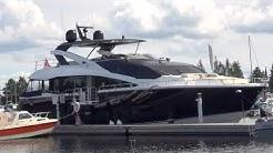 Sunseeker 86 Yacht at Kuopio city center harbor ⚓ Finland ☀️ 🛥️ 🛳️