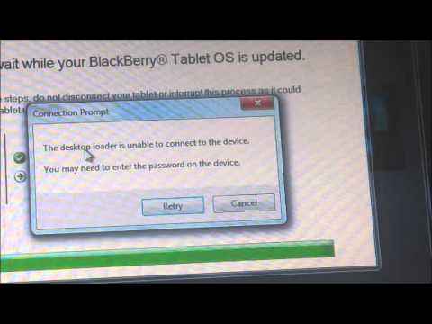 How to do a Full Wipe and Reinstall of The Blackberry Playbook OS.