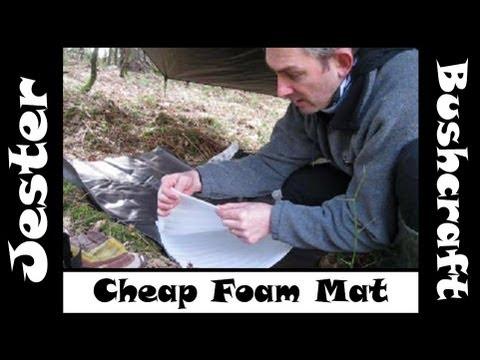 Bushcraft - Cheap Foam Mat Ground Insulation Idea