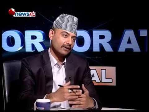 Anjan Raj Poudyal II Past President of Stock Broker Association II 2016-07-22