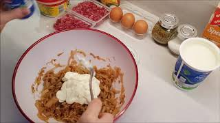 Рецепт немецкого лукового пирога - Zwiebelkuchen