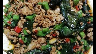 Cooking Ah Pa - Pad Krapao Moo (thai basil stirfry pork)
