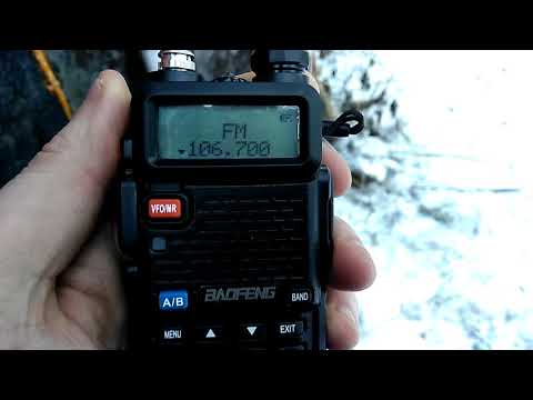 Приём Radio Record радиостанцией  Baofeng UV-5R на антенну АСКИ МХ160