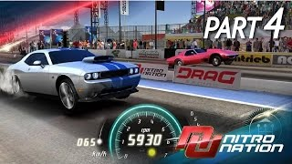 Nitro Nation Online MUSCLE CAR DRAG - Mustang/Camaro/Barracuda/Challenger (iPhone Gameplay Video)