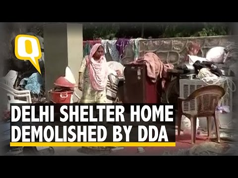 The Quint: Women and Children Rendered Homeless As Delhi Shelter Home Razed