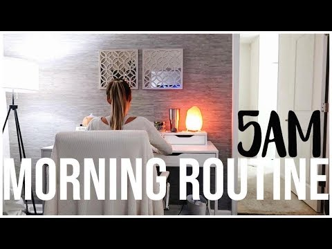 2018 5AM Morning Routine | FALL EDITION | Productive & Healthy | RENEE AMBERG