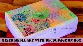 DECOUPAGE ON WOOD-DECOUPAGE FOR BEGINNERS-DECOUPAGE WITH NAPKIN-GROWING CRAFT-HANDMADE GIFTS
