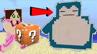 PopularMMOs Pat and Jen Minecraft: SUPER LUCKY BLOCK POKEMON CHALLENGE!!!