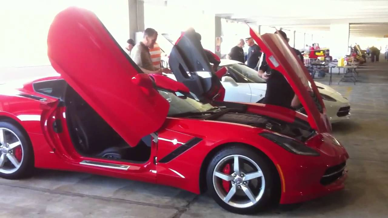 First Look 2014 C7 Corvette Stingray With Lambo Doors
