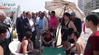 بالفيديو : 0J7محمد سلطان محافظ الأسكندرية  يتفقد الشواطئ خلال أعياد الربيع