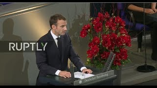 LIVE: Macron delivers speech at German Bundestag
