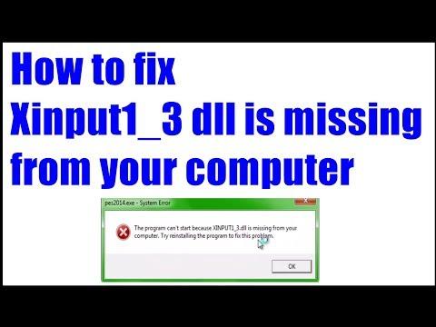 xinput13 dll missing windows 10 free download