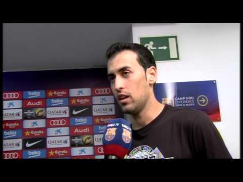 Les reaccions de Busquets després del 5-1 al Sevilla