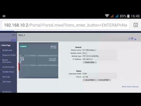 TIA PORTAL 18/20: Web Server S7 1200