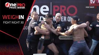 Jeka Saragih VS Hendrik Tarigan FN #30 One Pride Pro Never Quit | Weight-In (27/7/2019)