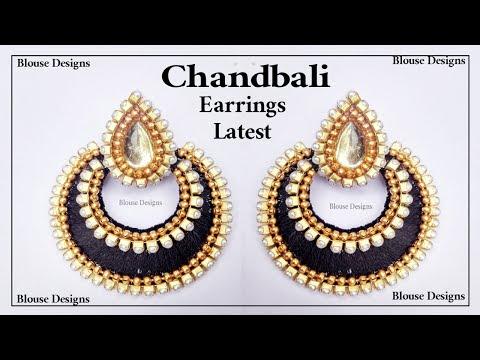 Simple and Beautiful Chandbali Silk Thread Earrings Making Diy