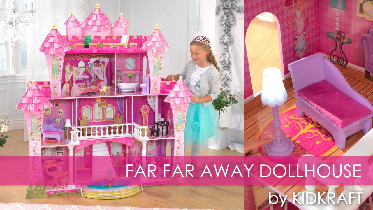 Girl S Pink Far Far Away Dollhouse Toy Review Youtube
