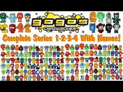 Gogo Crazy Bones! Every Character With Names Series 1-2-3-4!