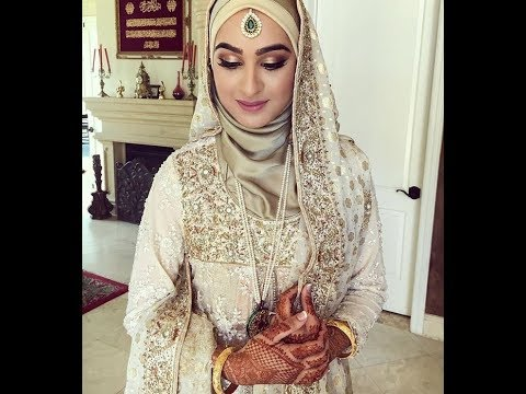 eb5c2ea4824 Beautiful Hijab Brides - Muslim Bridal Dresses - YouTube