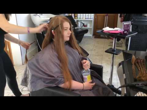 16 INCHES HAIR CUT! Laura's haircut for the Little Princess Trust