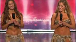 The Belly Dancing Duo America's Got Talent 2010 (Kaya & Sadie)