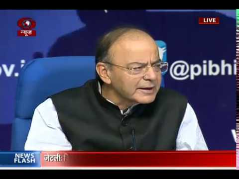 FM Arun Jaitley addresses press conference