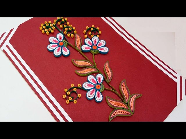 How to make paper quilling flowers step by step free metal with how free paper quilling how to make beautiful quilling flowers design happy birthday greeting card with how to make paper quilling flowers step by step mightylinksfo