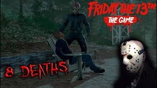 Friday the 13th the game - Gameplay 2.0 - Jason part 9 - 8 Deaths