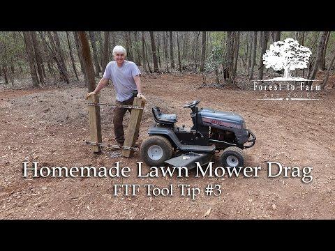 Homemade Lawn Mower Drag
