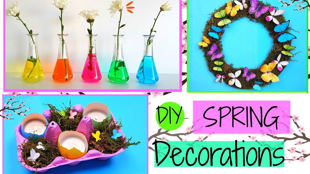 3 Diy Spring Room Decor Ideas Easy Crafts Youtube