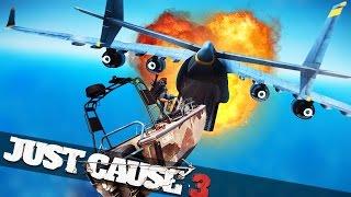 CRAZY CARGO PLANE BOAT STUNT!!! :: Just Cause 3 Epic Stunts!
