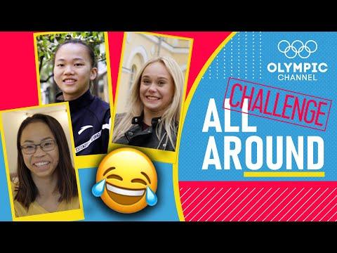 "Angelina, Morgan, and Yile take the ""Co-Stars"" Challenge | Bonus Content | All Around"