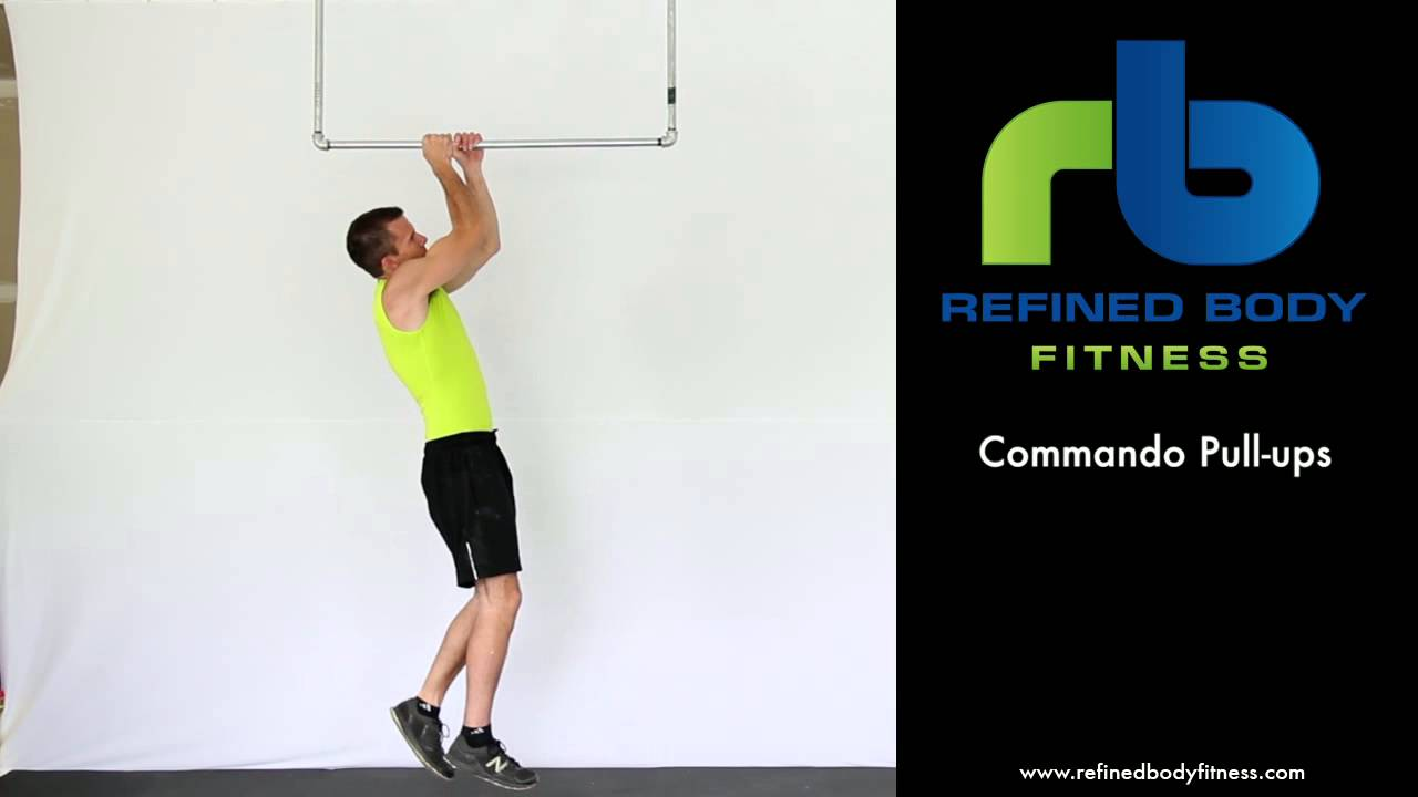 Commando Pull-ups - Exercise Demonstration by Refined Body Fitness