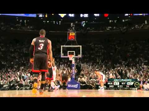 LeBron James 32 points vs New York Knicks full highlights first round game 3 NBA Playoffs 03.05.2012