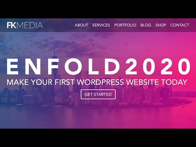 How To Make A Wordpress Website 2020   Enfold Theme Tutorial