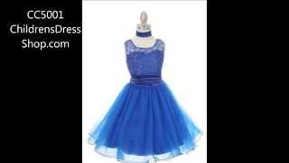 Style CC5001 - Lace and Sequin Sparkle Flower Girl Dress