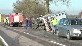 Wypadek transportu świń