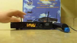 audio2000s awm6527u uhf 2 channel wireless handheld microphone system review